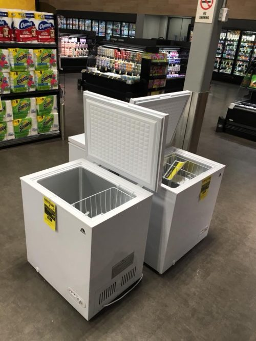 how to get the chest freezer to open