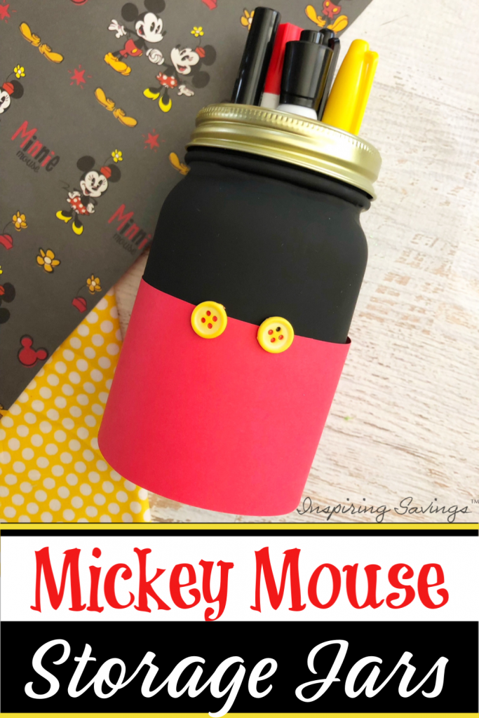 Mickey Mouse Storage Jar - craft