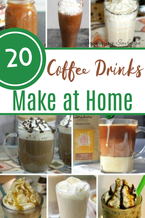different cups of coffees to make at home