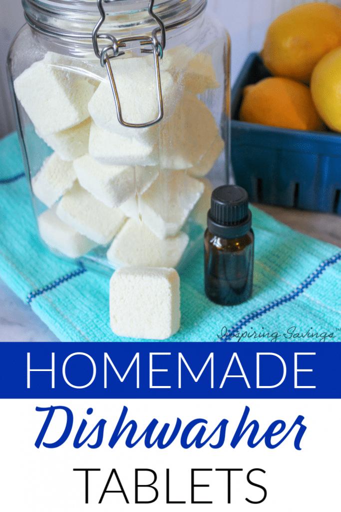 Homemade dishwasher Tablets - Laundry DIY Tablets