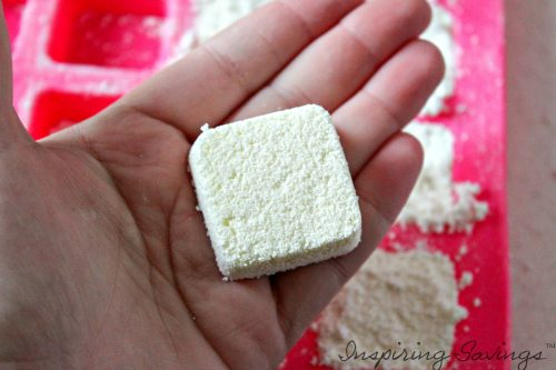 homemade dishwasher detergent tab all dry