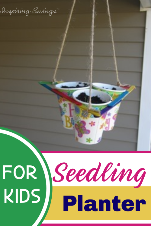Hanging Seedling Planter - Made from Popsicle Sticks & Cups