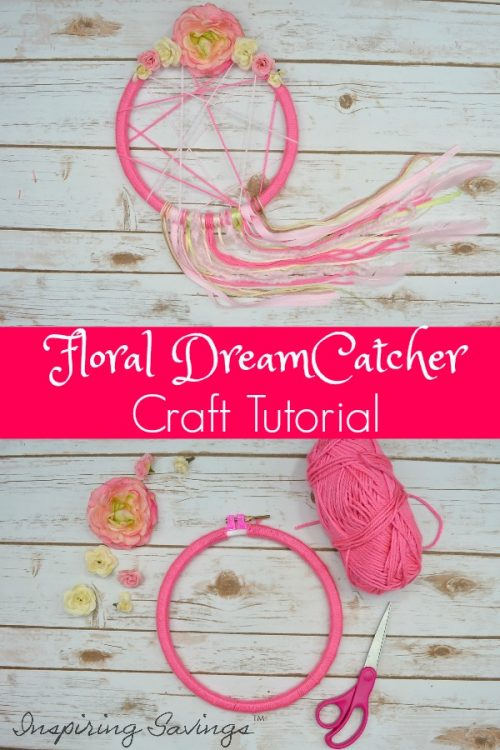 Looking for the perfect floral dreamcatcher? Why buy it when you can make it? Check out this complete step-by-step guide to make a floral dreamcatcher craft. Making a dreamcatcher is a fun project you can do by yourself or with friends. You will need a hoop, yarn, glue gun and decorative materials to create a basic dreamcatcher.  This will be the easiest and most adorable dreamcatcher you will ever see.