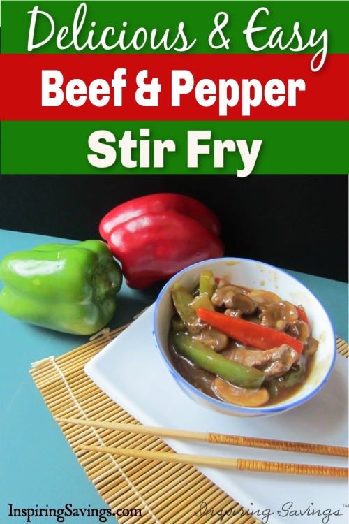 Beef & Pepper Stir Fry in bowl