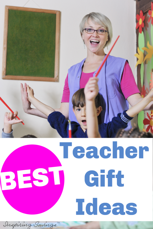 Happy Teacher in Classroom with kids - Best gift Ideas for Teachers