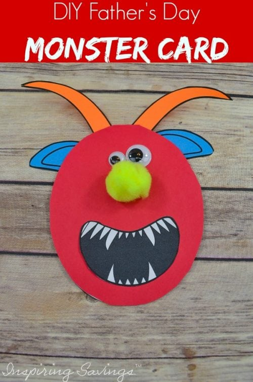 Father's Day is coming up! Let your kids show him how much he's loved. Help the kids make dad something special this Father's Day with an easy, mess-free craft. Go ahead and make Dad smile with this Easy DIY Father's Day Monster Card.