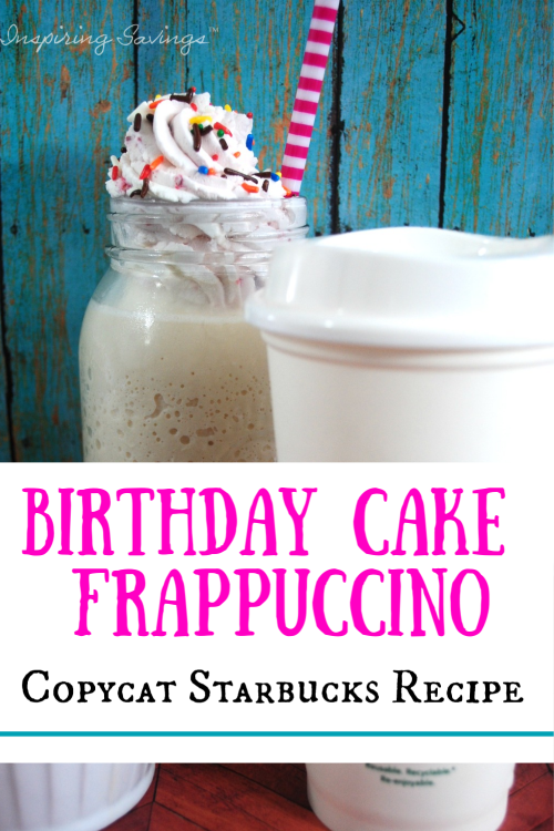 Astonishing Homemade Copycat Starbucks Birthday Frappuccino Personalised Birthday Cards Paralily Jamesorg