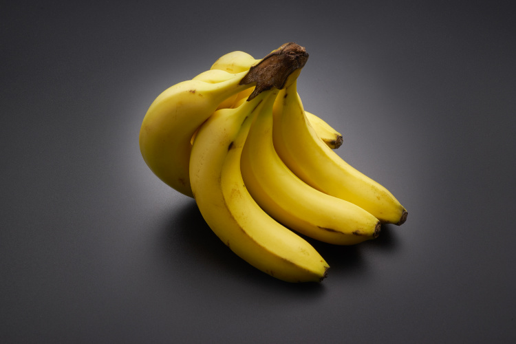 bananas on the black background - Freezing food