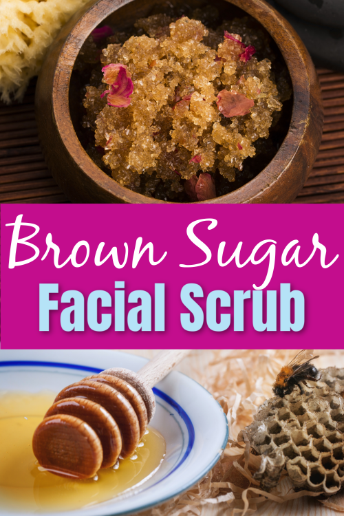 brown sugar facial scrub picture collage