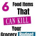 food that kills your budget