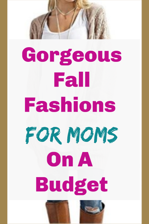Mom wearing fall fashion with text overlay