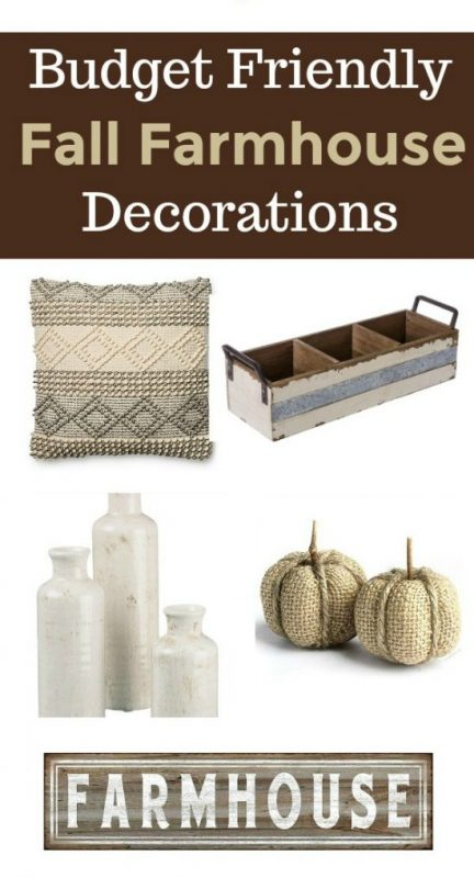 Looking for budget-friendly fall farmhouse home decor and style? This budget friendly list of your favorite products will add the perfect touch of farmhouse to your home this fall. #farmhouse #homedecor #fall