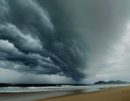 Storm over beach - FREE Emergency Preparedness Kit!
