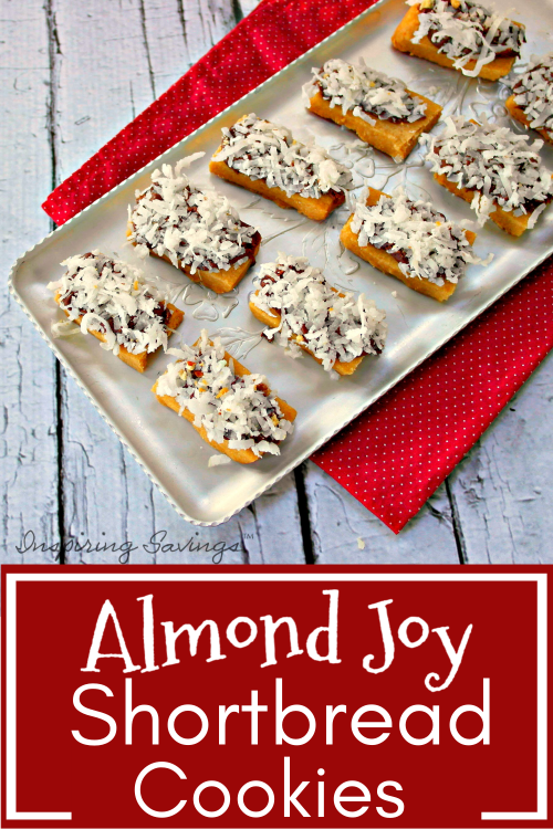 Almond Shortbread Cookies on serving tray