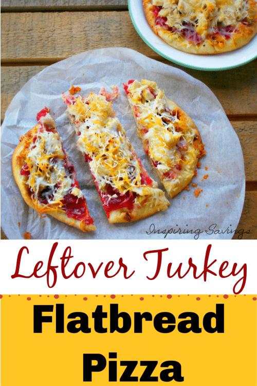 Leftover Turkey Flatbread Pizza