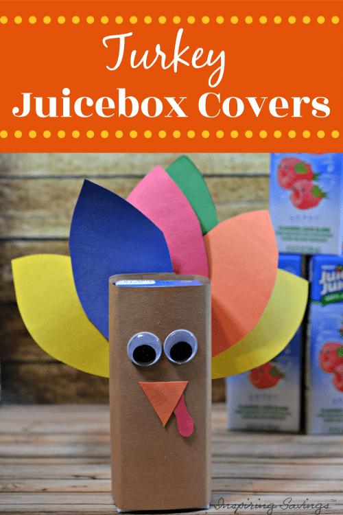 Turkey Juice Box Cover