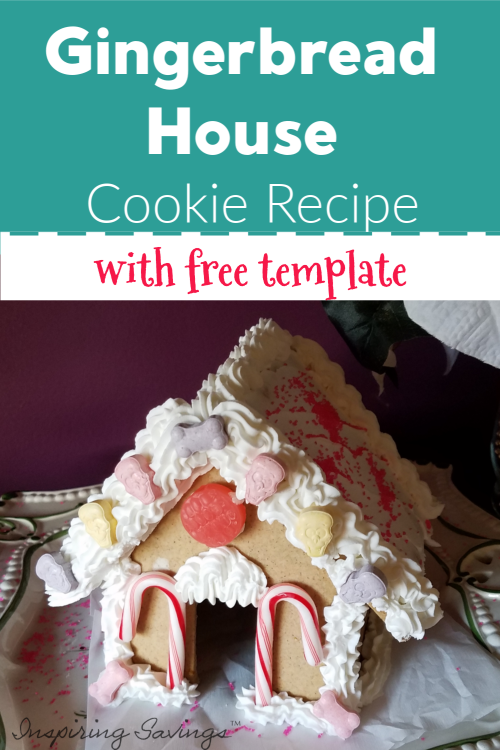 The BEST recipe for gingerbread house cookie. My family has been using it for years! Easy to make, comes with Royal Icing Recipe & Template