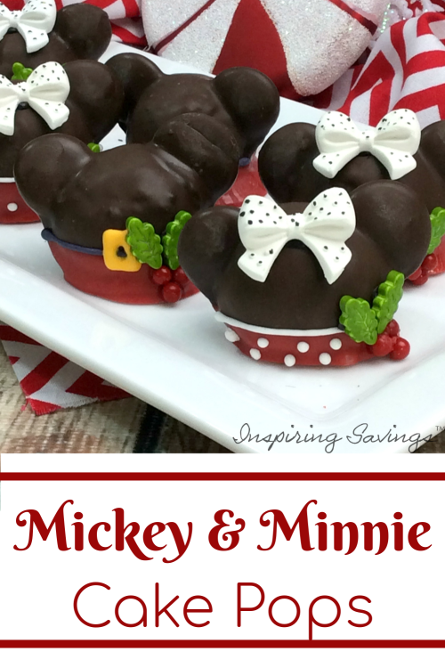 Mickey & Minnie Mouse Cake balls on White plate