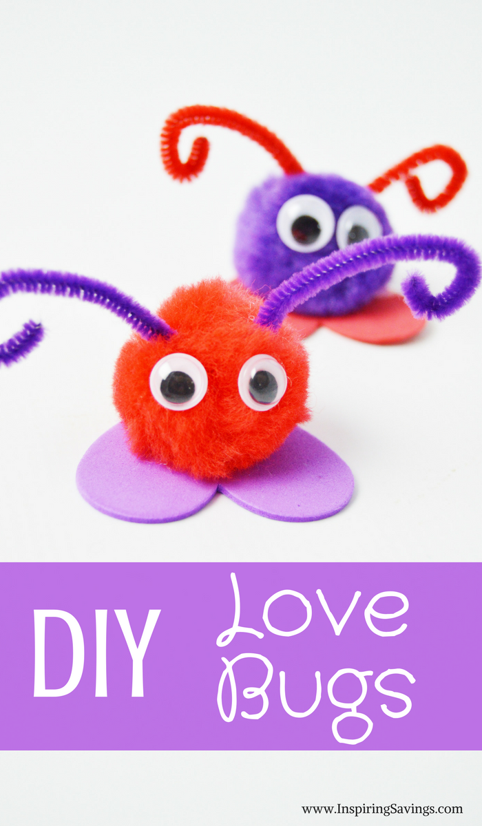DIY Love Bugs for Valentine's Day -  Love Bug Craft