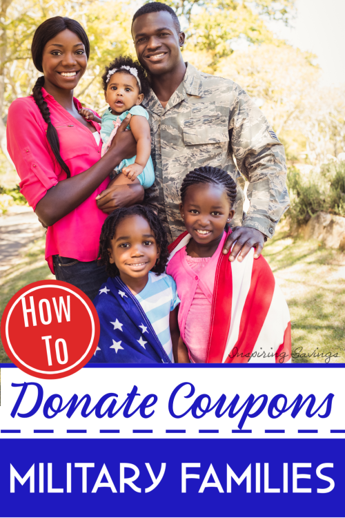 Military Family Standing together - donate coupons