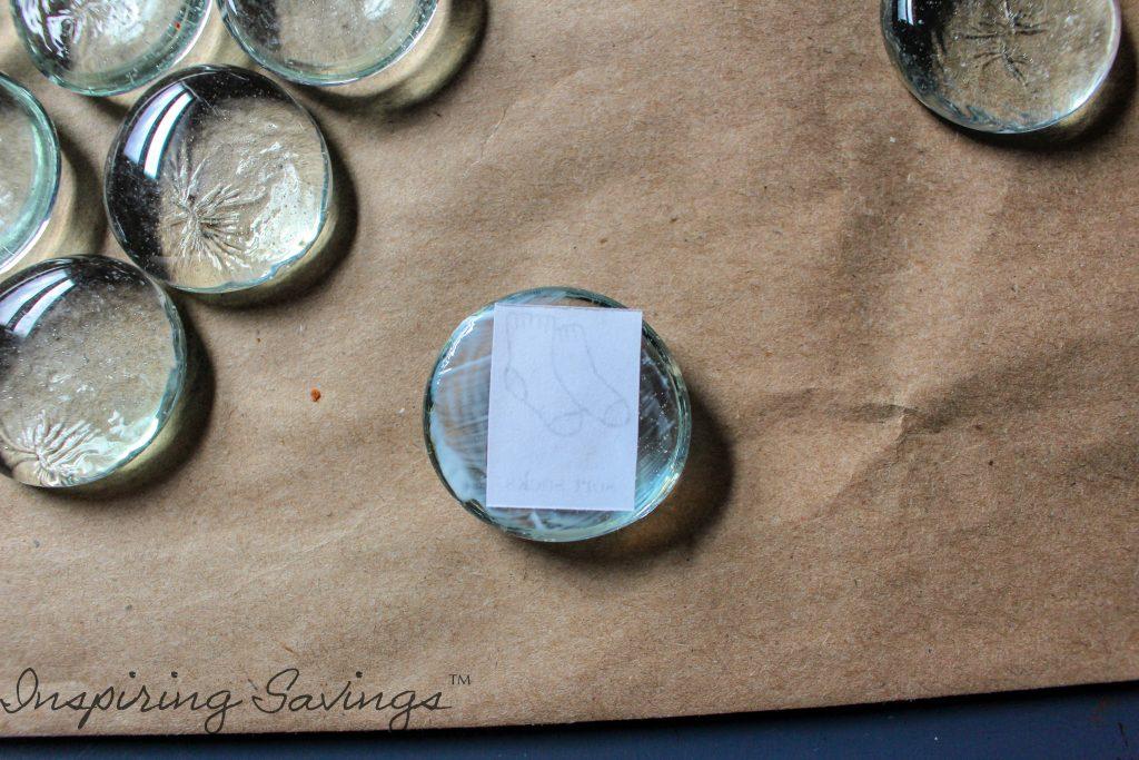 Adding Chore printable to glass bead