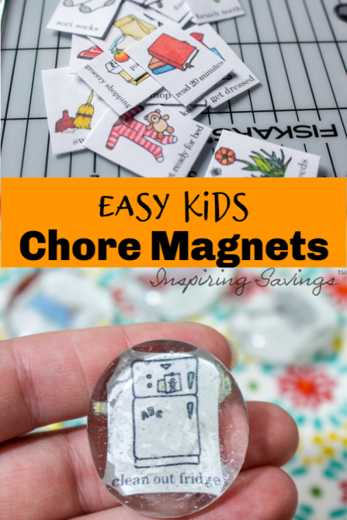This tutorial will show you how to make an Easy Chore Magnets for Kids.Teach responsibility and bring organization to your home. This FUN DIY project will make you feel more organized.
