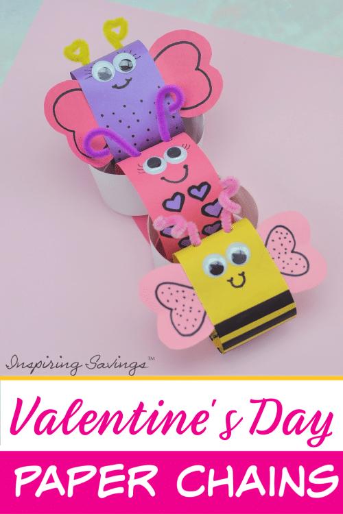 Valentines Day Craft - Valentine's Day Paper Chains