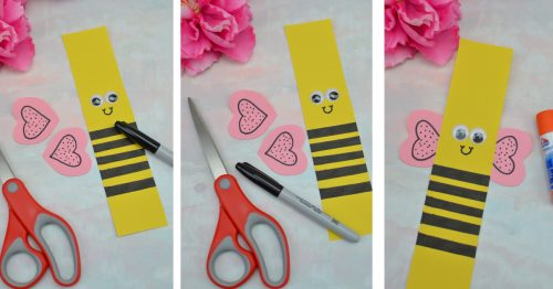 Making Bee paper chain picture college