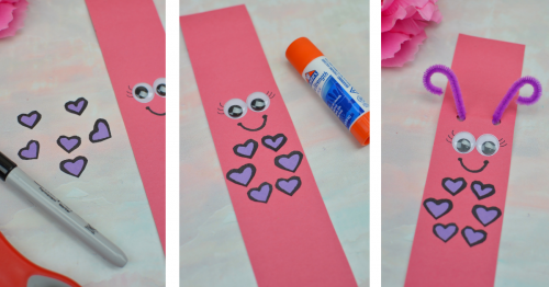 Making Lady Love Bug Paper chain picture college
