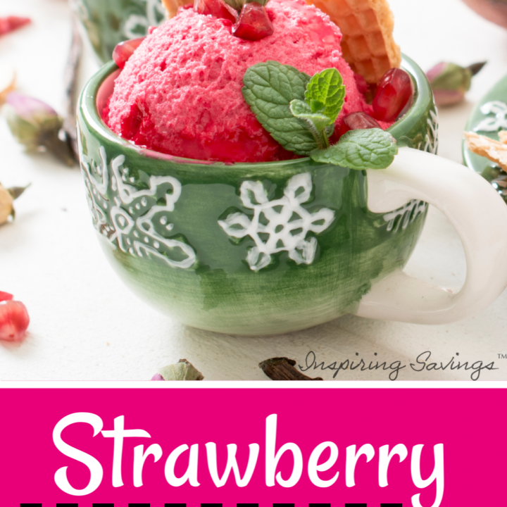 Strawberry Snow Ice Cream