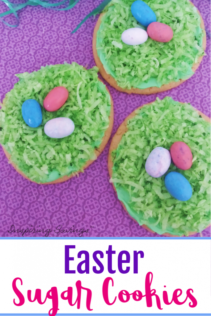 Decorated Easter Cookies on Purple Back drop