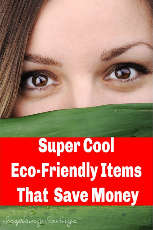 Women with green leaf covering bottom half of face - eco-friendly items