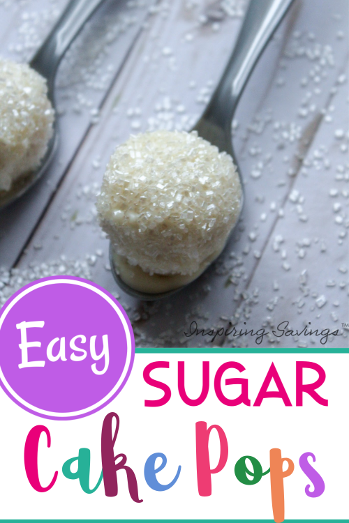 Easy Sugar Cake Pops on silver spoon