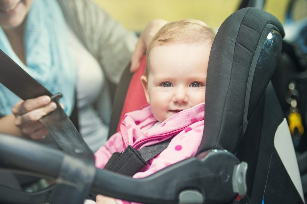 Baby in car seat - infant hand me downs