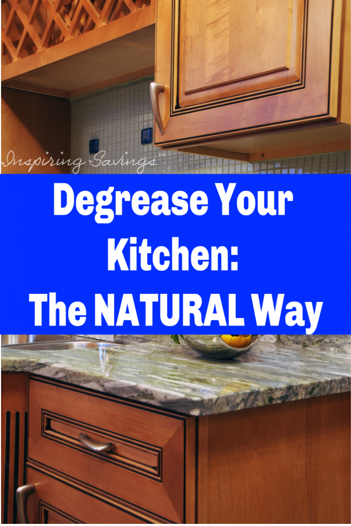 Remove greasy build-up and dirt from your kitchen cabinets with this all Natural Kitchen Degrease. This cleaner will have your cabinets clean in a few short ...