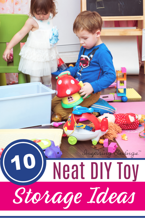 Kids playing with toys - Toy Organizers