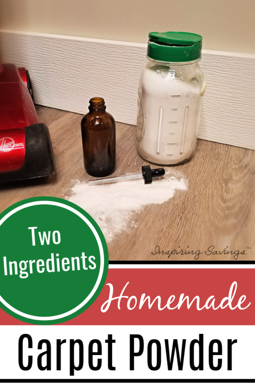 Ingredients needed for homemade Carpet Powder