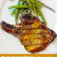 Peach Yogurt Curry Marinated Pork Chops
