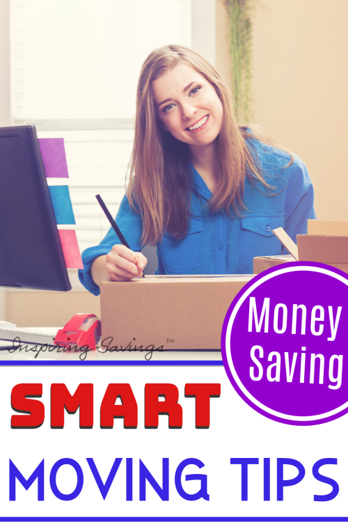 Woman preparing for moving - researching and labeling boxes Budget Saving Tips When Moving