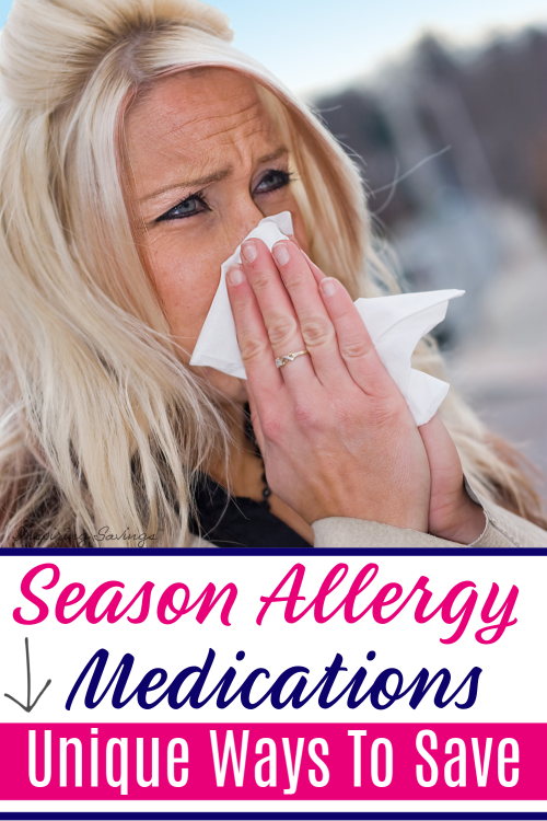 Woman sneezing into tissue - seasonal allergy medications