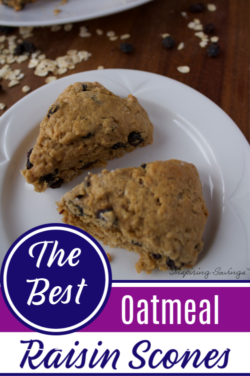 oatmeal Raisin Scones on white plate