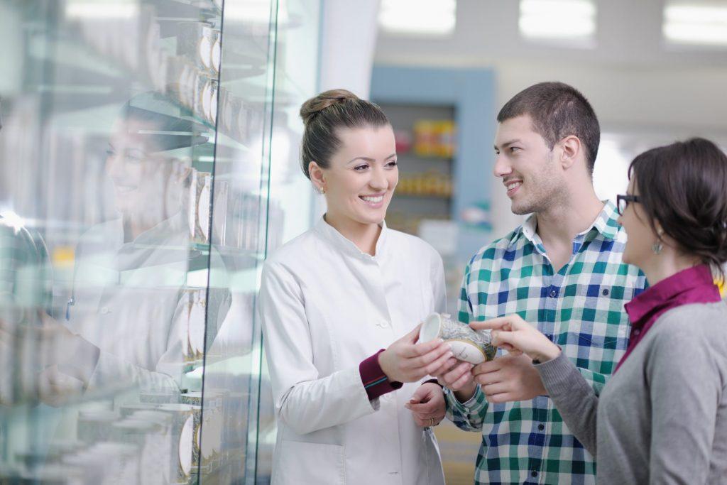 Pharmacist Suggesting Generic drugs for Season allergy medication