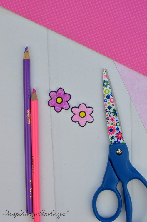 Mother's Day Card - coloring flowers for sloth hair