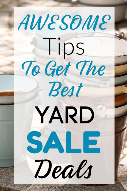 Awesome Tips to get the best yard sale Deals