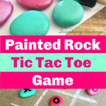 Painted Rock Tic Tac Toe Game