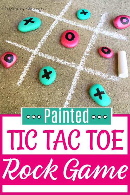 Painted Tic Tac Toe Rock Game