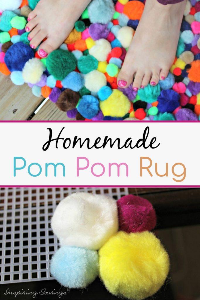 Homemade Pom Pom Rug Craft