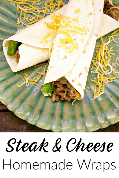 Delicious Steak & Cheese Wraps Recipe - Philly Cheese Steak