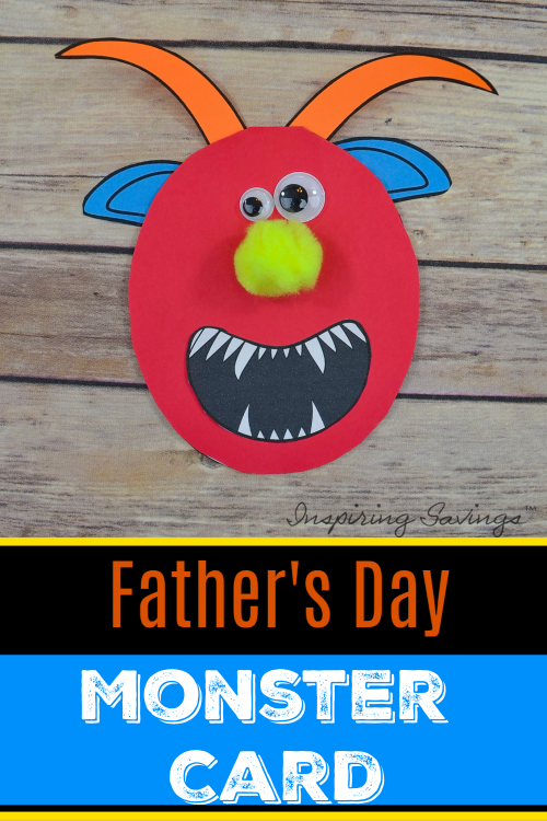 Father's Day Monster Card