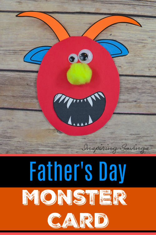 Monster Card for Father's Day